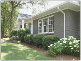 Ranch House Curb Appeal Painted Brick Before And After Shapwee Home Exterior Pinterest