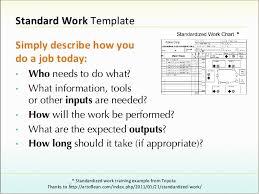 Standard Work Chart Example Leader Standard Work Template Websitein10com Sws