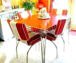 retro chrome dinette set astonish dining room table and chairs home interior red vine d