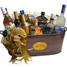 tail gift basket plete open bar t baskets liquor basket liquor basket fundraiser