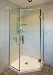frameless glass shower door corner angle shower