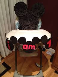 mickey mouse high chair banner for the twin s 1st birthday party