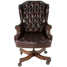 vintage leather office chair. Contemporary Leather Vintage RegencyStyle Leather Office Chair For Sale To