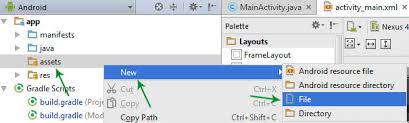 How To Add/Create Local HTML File In Android Studio