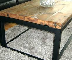reclaimed wood and metal coffee table round wood and metal coffee table rustic industrial reclaimed wood