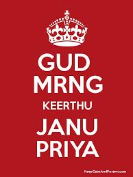 gud mrng keerthu janu priya poster