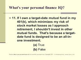 apta member benefit education finance program administered by  what s your personal finance iq