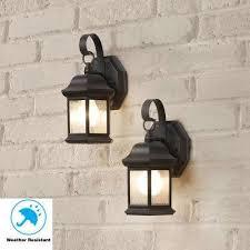 1 light bronze outdoor wall mount lantern