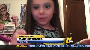 must see video 4 year old gives makeup tutorial
