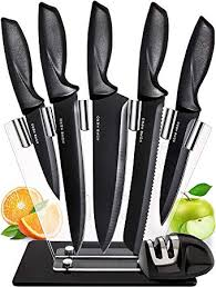 Chef Knife Set Knives Kitchen Set - Stainless Steel ... - Amazon.com