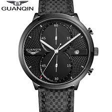 aliexpress com buy 2016 guanqin men watches luxury top brand 2016 guanqin men watches luxury top brand full black sport quartz watch men big dial luminous
