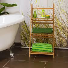 Relaxdays Leiterregal Bambus H X B X T 100 X 45 X 33 Cm Badregal Mit 3 Praktischen Ablageflächen Auch Als Standregal Und Küchenregal Zu Verwenden Zum