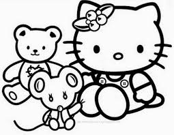 Coloring Pages Hello Kitty Pictures To Coloring Book Free