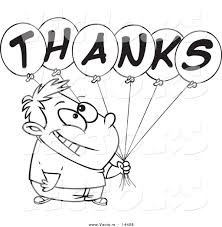 thank you balloons clipart clipart kid cartoon grateful boy holding thanks balloons coloring page outline