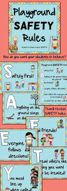 School Safety Rules Chart Playground And Recess Safety Rules Posters Playground