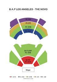 70 Interpretive The Novo Dtla Seating Chart