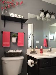 rental apartment bathroom decorating ideas. Bathroom, Glamorous Apartment Bathroom Decorating Ideas Rental Remodel And Grey Painted Wall Pink