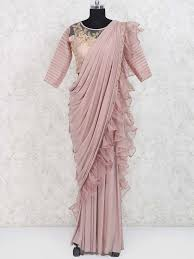 Designer Stitched Saree Top Styles Of Ready To Wear Saree Ready Made Sarees