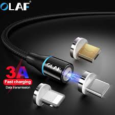 <b>OLAF</b> 1M 2M Fast Charging <b>LED</b> Micro <b>USB</b> Type C Cable For ...