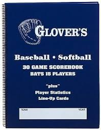 New Glovers Scorebooks 9 To 15 Player Baseball Softball Scorebook 30 Games 183385000077 Ebay