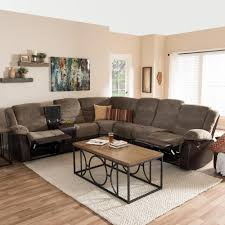 l shaped sectional sofa. Baxton Studio Robinson 4-Piece Contemporary Taupe Fabric Upholstered L-Shaped Sectional Sofa L Shaped