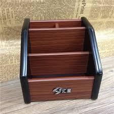wooden office storage. Wooden Desktop Organizer Storage Box Pen Pencil Jewelry Makeup Holder Stationery Brown Office Rack I