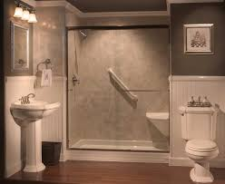 remarkable showers with seats built in tub to shower conversions on replace bathtub