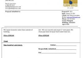 Plumbing Invoice Legal Invoice Template Or Bid Form Page 1 Bid Form Legal Documents