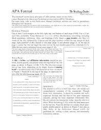 Sample Of A Journal Article Review Apa Style Resume Examples