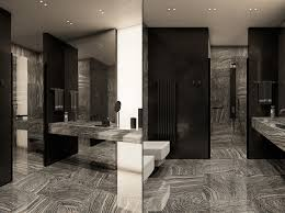 Three Luxurious Apartments With Dark Modern Interiors - Luxury apartments bathrooms