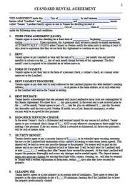 lease agreement sample printable sample residential lease form laywers template forms