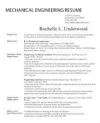 Resume Format For Mechanical Engineer Resume Sample For Mechanical