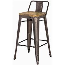 grand metal low back counter stool set of  gunmetal – aptb