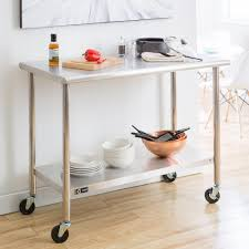 ecostorage 48 in nsf stainless steel table with wheels tls 0201c rh homedepot com