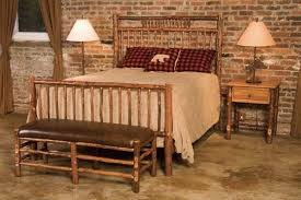 Ashley Furniture Indianapolis for a Spaces with a Rustic Bed and