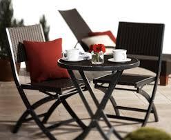 crossman piece outdoor bistro: strathwood ritta all weather wicker  piece bistro set dark gray