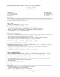 Resume Without Objective Best Free Collection On For Retail Job