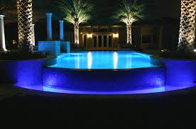 outdoor pool lighting. swimming pool adoreable lighting fixture of elevated with blue ceramic tiles deck surrounded outdoor