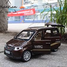 <b>1:32 Diecast Alloy car</b> model Wuling Hongguang Van Six doors can ...