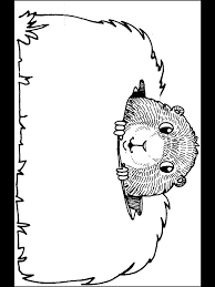 Groundhog Day Coloring Pages Primarygames Com