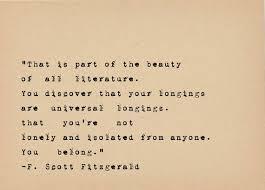 F Scott Fitzgerald Quote Book Lover Art Literary Art Quote Print Impressive Fitzgerald Quotes