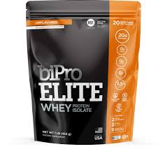 BiPro <b>Elite 100</b>% <b>Whey Isolate</b> Protein Powder, Unflavored, 1 Pound