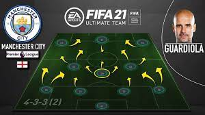 PEP GUARDIOLA'S MANCHESTER CITY IN FIFA 21 ULTIMATE TEAM (433) CUSTOM  TACTICS - YouTube