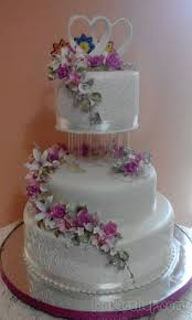 3 Tier Wedding Cake With Roses And Multi Color Flowers Sri Lanka