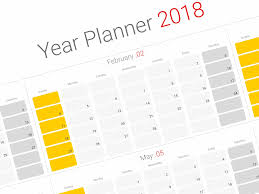 planning calendar template 2018 daily planner 2018 yearly wall planner agenda template