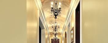 small chandeliers should have a smaller diameter we suggest the diameter be kept under 2 feet however some spaces can handle more most hallways look