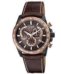 citizen men s eco drive perpetual chrono a t brown leather strap citizen men s eco drive perpetual chrono a t brown leather strap watch 42mm at4006 06x