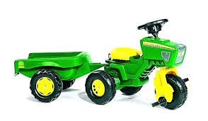 tractor ride on toy toys john trio riding for toddlers track trailer pedal case deere foot