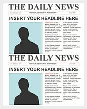 Newspaper Front Page Template Indesign Newspaper Template 154 Free Word Ppt Pdf Psd Eps Indesign