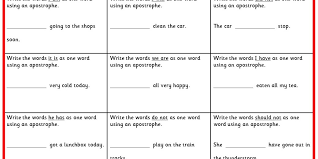 Writing Contractions KS1 SPAG Test Practice | Classroom Secrets